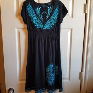 Rock & Roll Cowgirl embroidered dress size med
